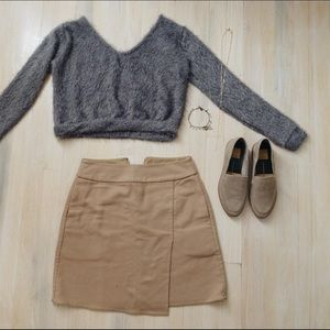 Tops - Fuzzy Cropped Sweater